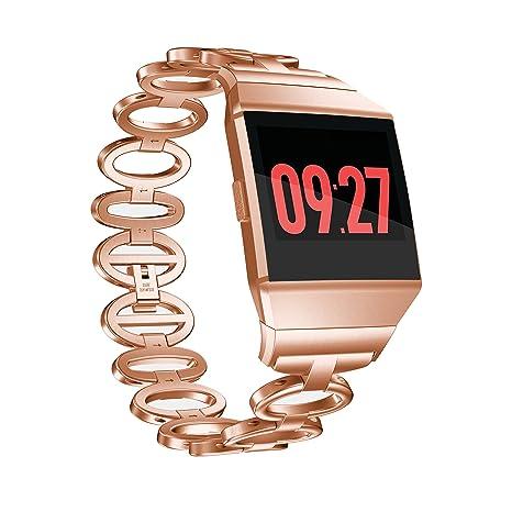 TopTen reloj deportivo ajustable banda de acero inoxidable ...