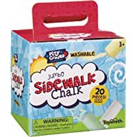 Toysmith Jumbo Sidewalk Chalk, Assorted Colors (Packaging May Vary)