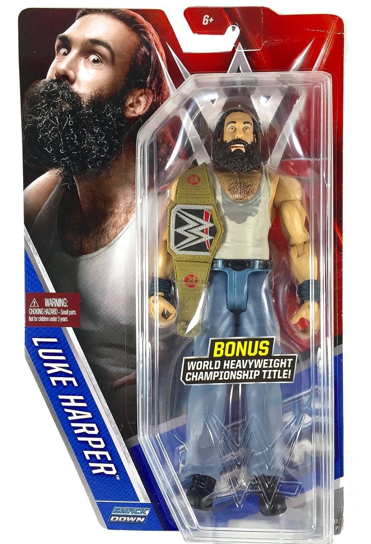 Luke Harper Mattel WWE Basic Series 60 Chase with Title Belt