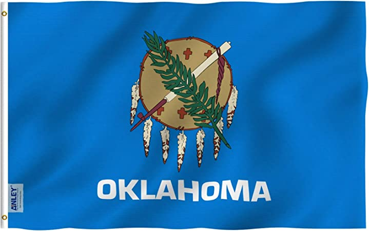 100/% Polyester With Eyelets American State Flag Oklahoma Flag 5 x 3 FT