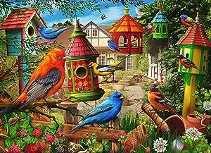 Birdhouse Garden Jigsaw Puzzle 1000 Piece