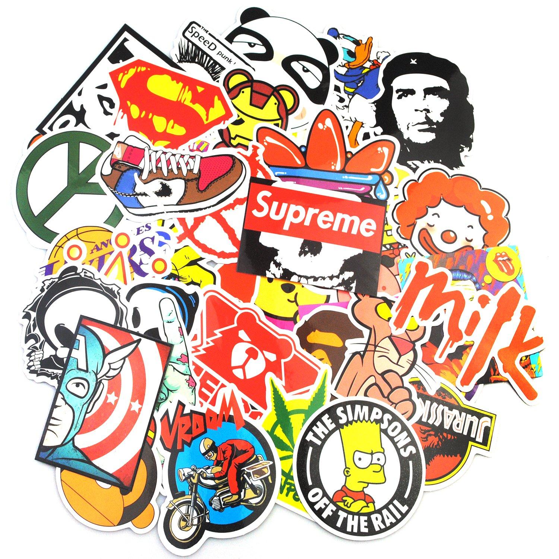 200 pc sticker pack laptop skater dope supreme hypebeast bape slaps aesthetic