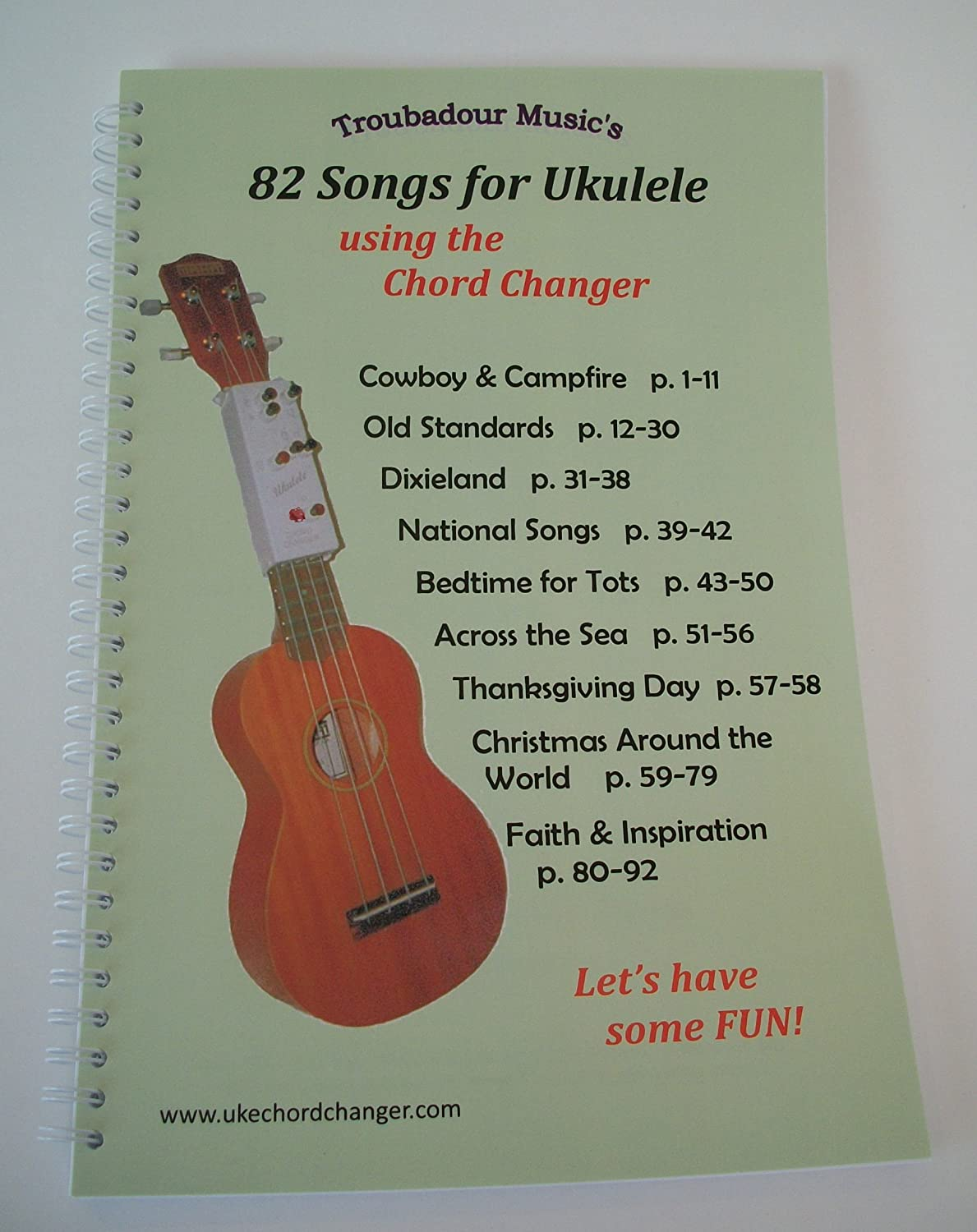Amazon ukulele chord changer and songbook set musical amazon ukulele chord changer and songbook set musical instruments hexwebz Image collections