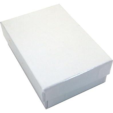 Amazoncom 100 Cotton Boxes White Pendant Chain Jewelry Displays