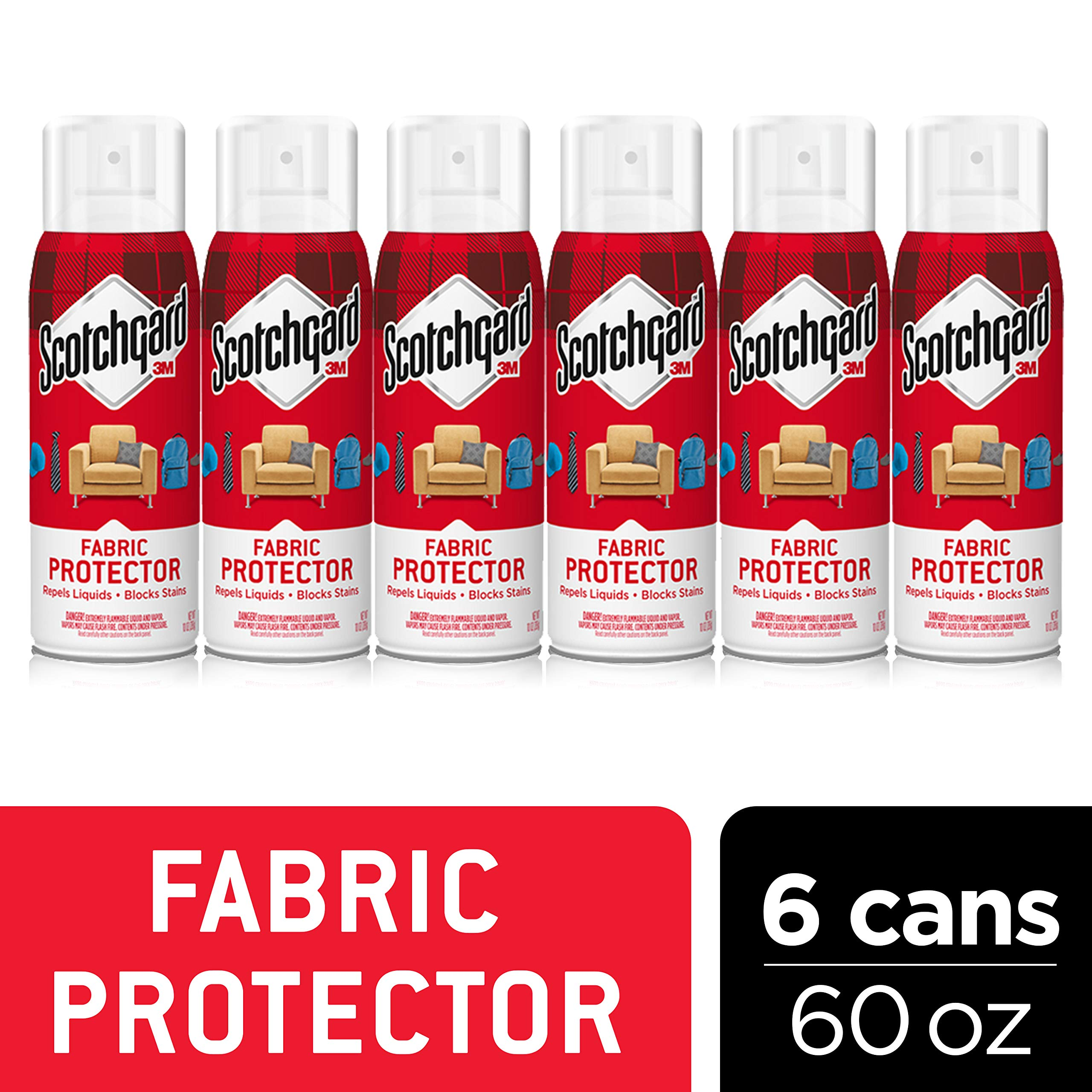 Scotchgard Fabric & Upholstery Protector, 6 Cans/10 Ounces per Can (60 Ounces Total)
