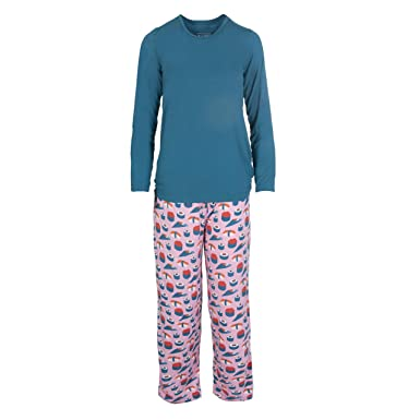 c8df17932e Kickee Pants Women s Long Sleeve Loosey Goosey Tee   Pant Set (Lotus Sushi