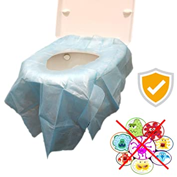 Disposable Toilet Seat Covers Xl Seat Cover Individually Wrapped Extra Large No Slip 20 Packs Blue For