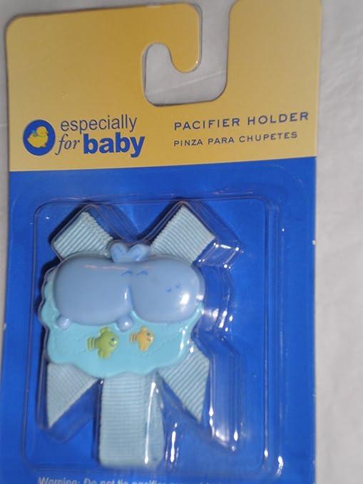 Amazon.com : Especially for Baby Pacifier Holder, Blue Hippo ...