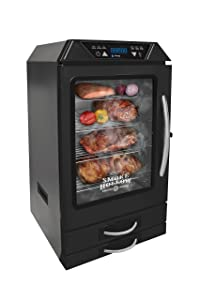 Smoke Hollow D4015B 40-Inch Digital Electric Smoker with Smoke-Tonix Bluetooth Technology, with built in meat probe,Black