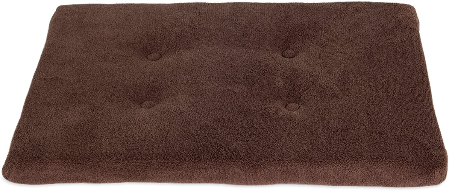 """Precision Pet SnooZZy Dog Mattress Crate Mat, Brown, for 19"""" Crates : Pet Bed Liners : Pet Supplies"""