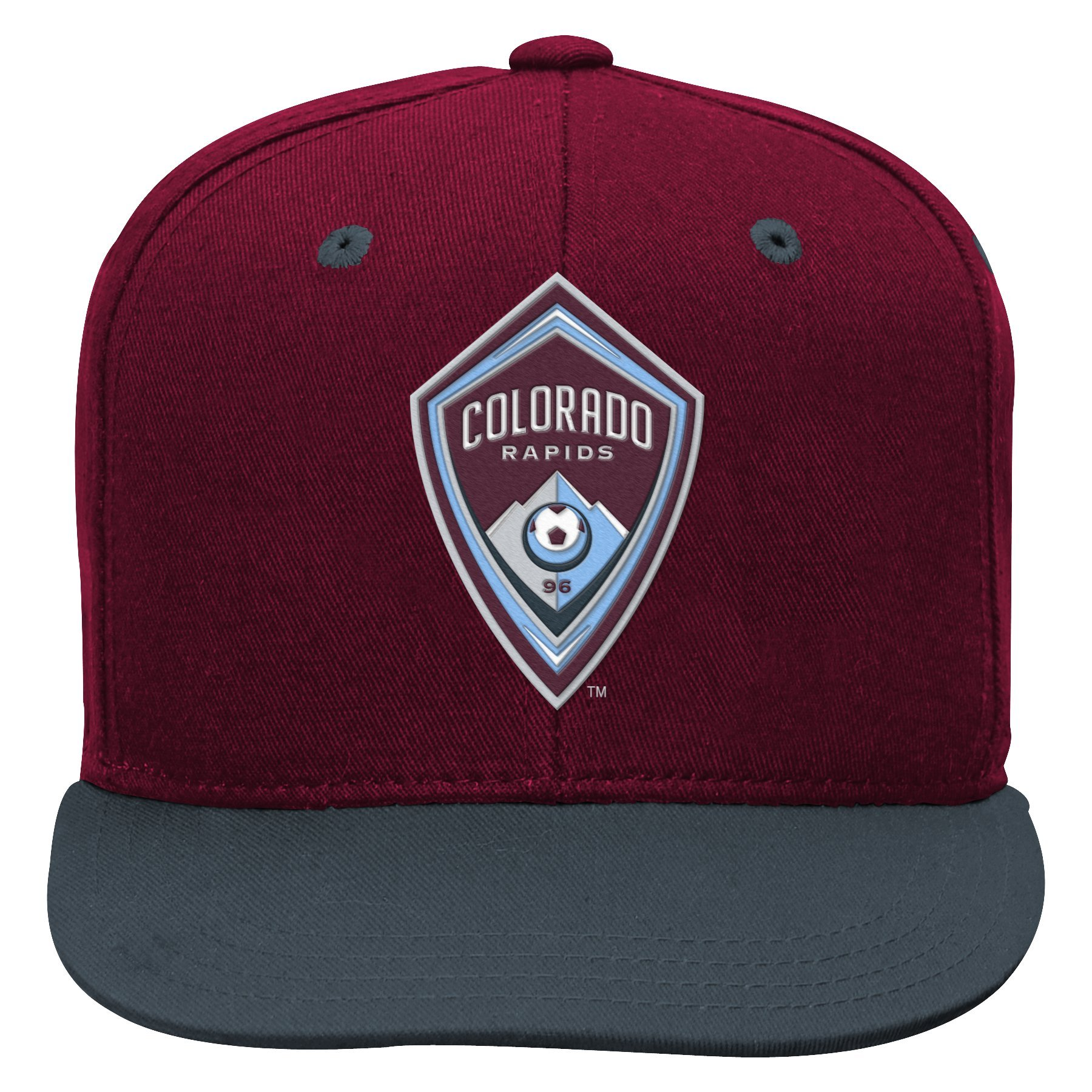 Outerstuff MLS Colorado Rapids Boys Flat Visor Snapback, Burgundy, One Size