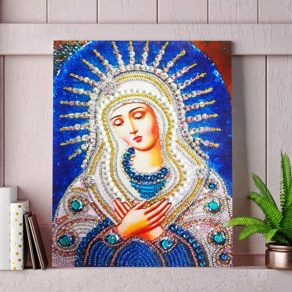 Amyline Diamond Painting 5D Diamond Painting by Number Kit,Eye/& Colorful Cow Crystal Rhinestone Embroidery Paintings Cross Stitch Pictures Art Craft for Home Wall Decoration