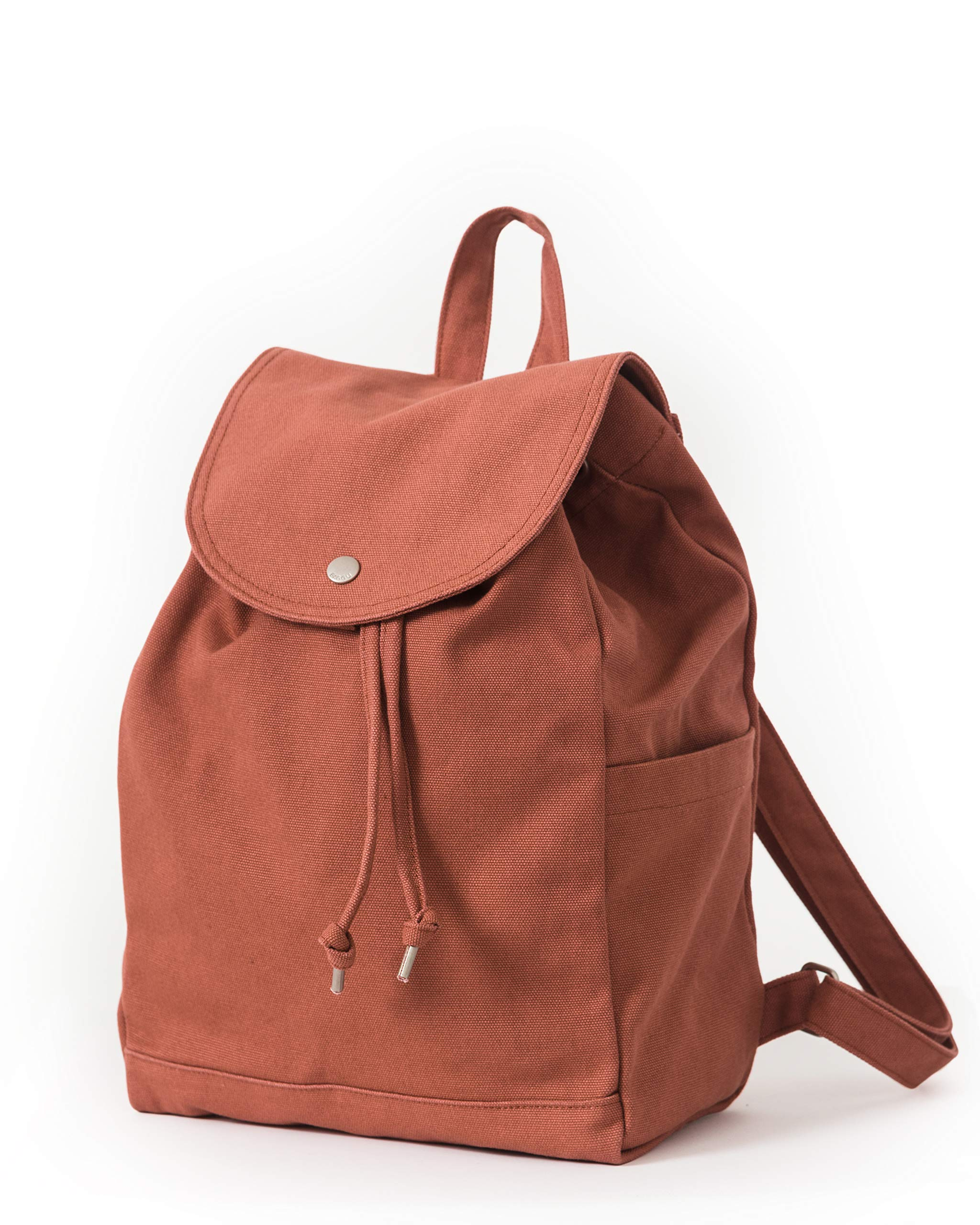 BAGGU Canvas Backpack, Durable and Stylish Simple