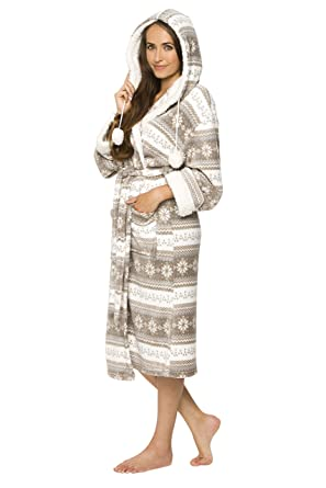 dc787a1f6e6e6a Mia Cossotta Damen Bademantel mit kuscheligem Coralfleece und Teddyfutter  Fleecebademantel: Amazon.de: Bekleidung