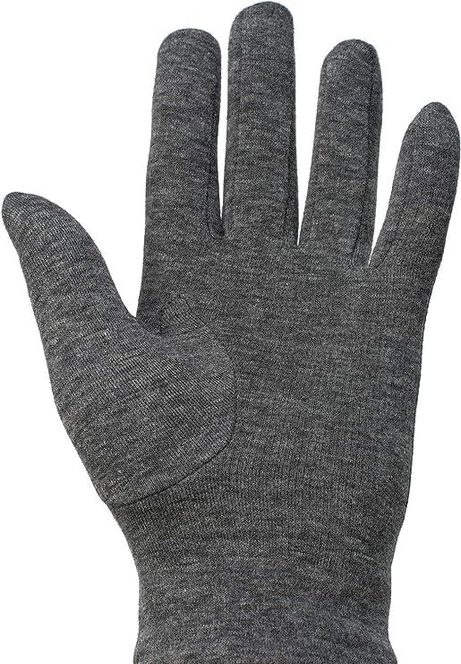 0c582801984b1 styleBREAKER Gants chauds pour femme en tissu uni avec un nœud décoratif et  une doublure en polaire, gants d'hiver 09010015, couleur:Gris chiné:  Amazon.fr: ...