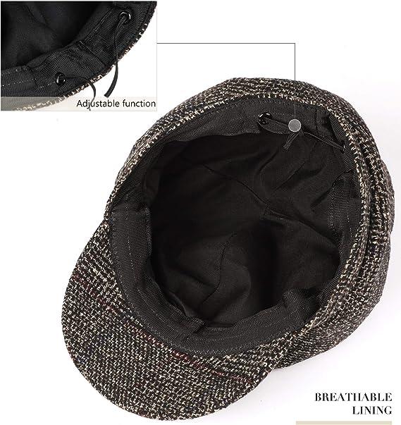 Superora Boinas Mujer Sombreros Gorras Invierno Francesa Tartán ...