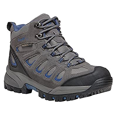 Propet Men's Ridge Walker Boot Grey / Blue 10 X (3E) & Oxy Cleaner Bundle