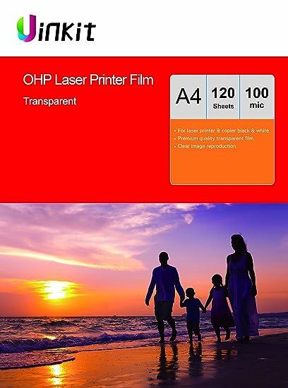 Lámina para retroproyector A4 y A3, para impresora láser y ...