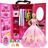 ZITA ELEMENT Doll Closet Wardrobe for 11.5 Inch...