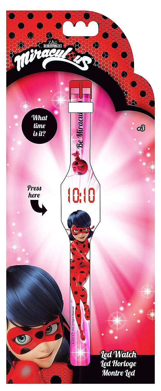 FACTORYCR Reloj Pulsera led Ladybug Infantil,, 3 x 23 x 1 cms 37084: Amazon.es: Juguetes y juegos