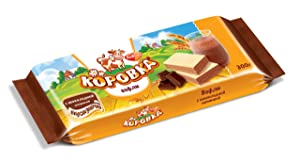 Wafers KOROVKA with Cocoa Chocolate Filling 300g/10.58oz Imported Russian Gourmet Sweeet Snack (Pack of 2)