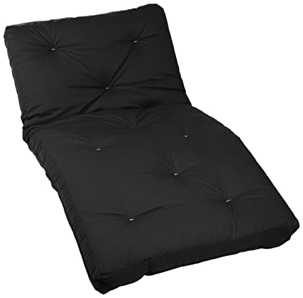 Medium image of mozaic twin size 6 inch cotton twill futon mattress black