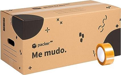 Pack 10 Cajas Carton para Mudanzas y Almacenaje 600x370x275mm ...