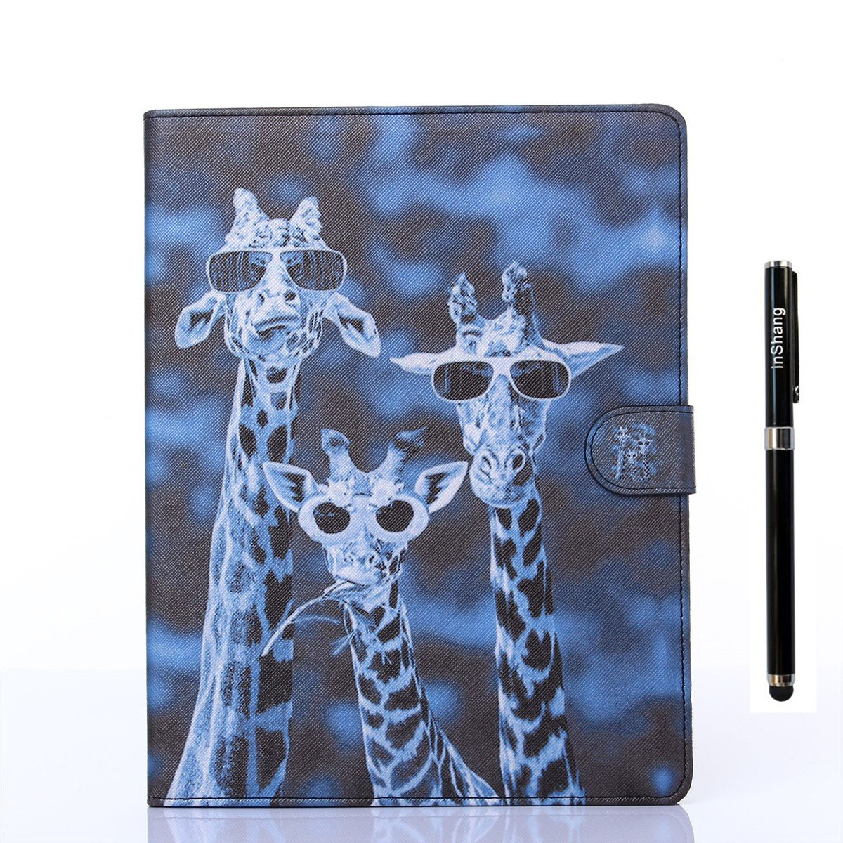 inShang Case for iPad mini 1, mini 2, mini 3, 7.9 inch Retina display, With Color Painting Pattern Stand Cover+1pc High end class business stylus Pen