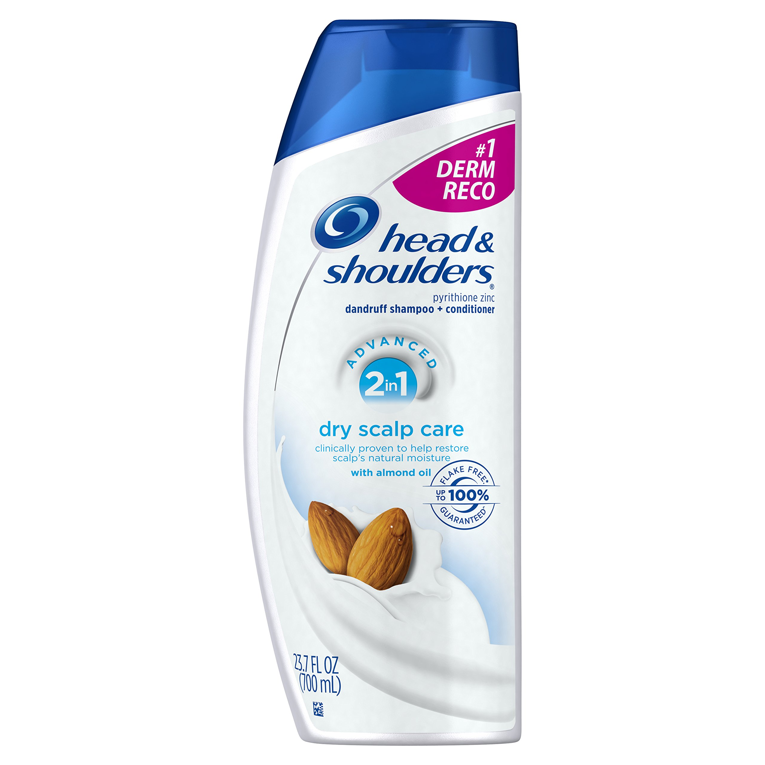 Head & Shoulders Dry Scalp Care with Almond Oil 2-in-1 Anti-Dandruff Shampo,23.7 ounce (Pack of 2)