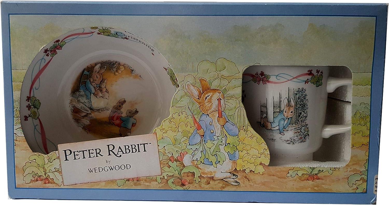 2 Piece Box Set Wedgwood Peter Rabbit Classic Christening
