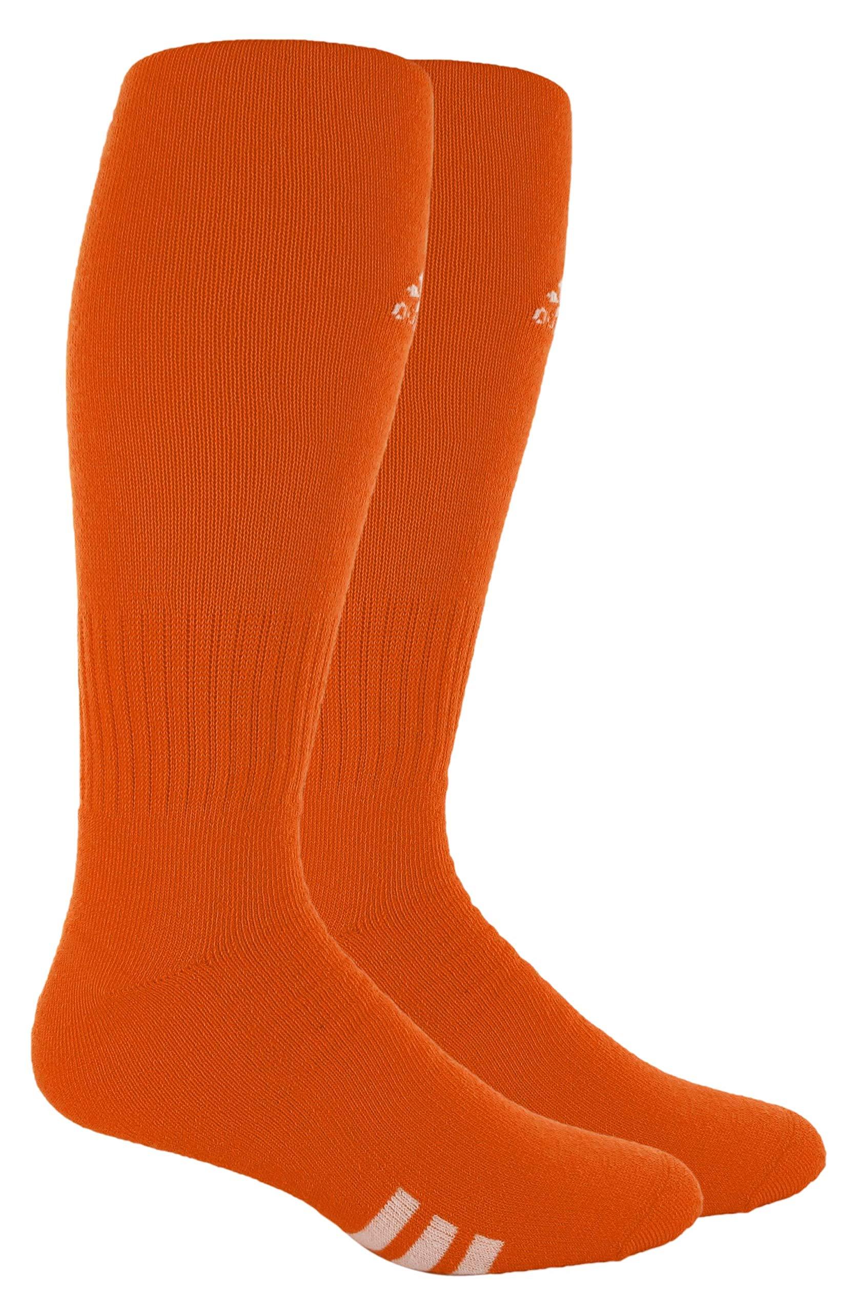 adidas Unisex Rivalry Field OTC Sock (2-Pair), Team Orange/White, 5-8.5 by adidas