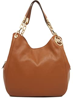 b7ce09286f440f Amazon.com: Michael Kors Fulton Large Signature Logo Shoulder Tote ...