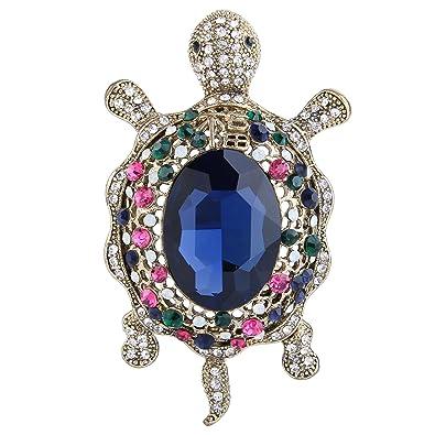 TENYE Austrian Crystal Lovely Little Tortoise Brooch Pendant Z3zHSANP
