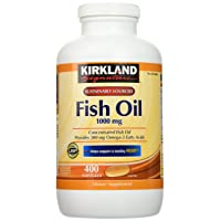 Kirkland Signature Natural Fish Oil Concentrate with Omega-3 Fatty Acids - 400 Softgels...