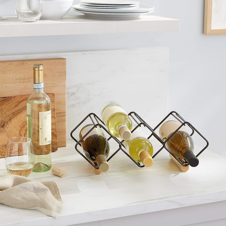 Basics Range-bouteilles empilable pour table Capacit/é 6 bouteilles