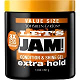 SoftSheen-Carson Let's Jam! Shining and Conditioning Hair Gel by Dark and Lovely, Extra Hold, All Hair Types, Styling Gel Gre