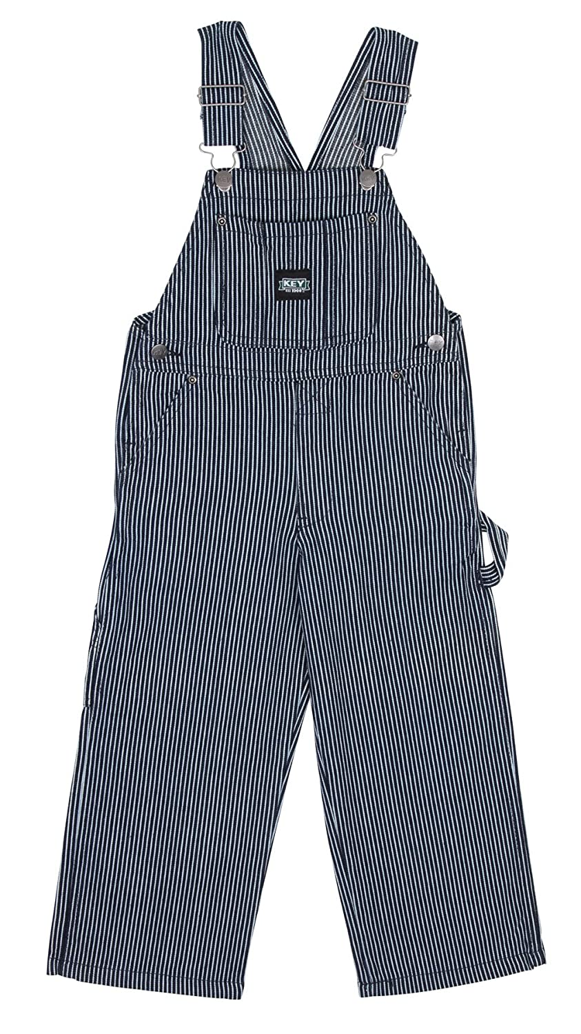 Key Industries Childrens Dungarees - Hickory Stripe Age 12m-7yrs Kids Bib Overal KID009