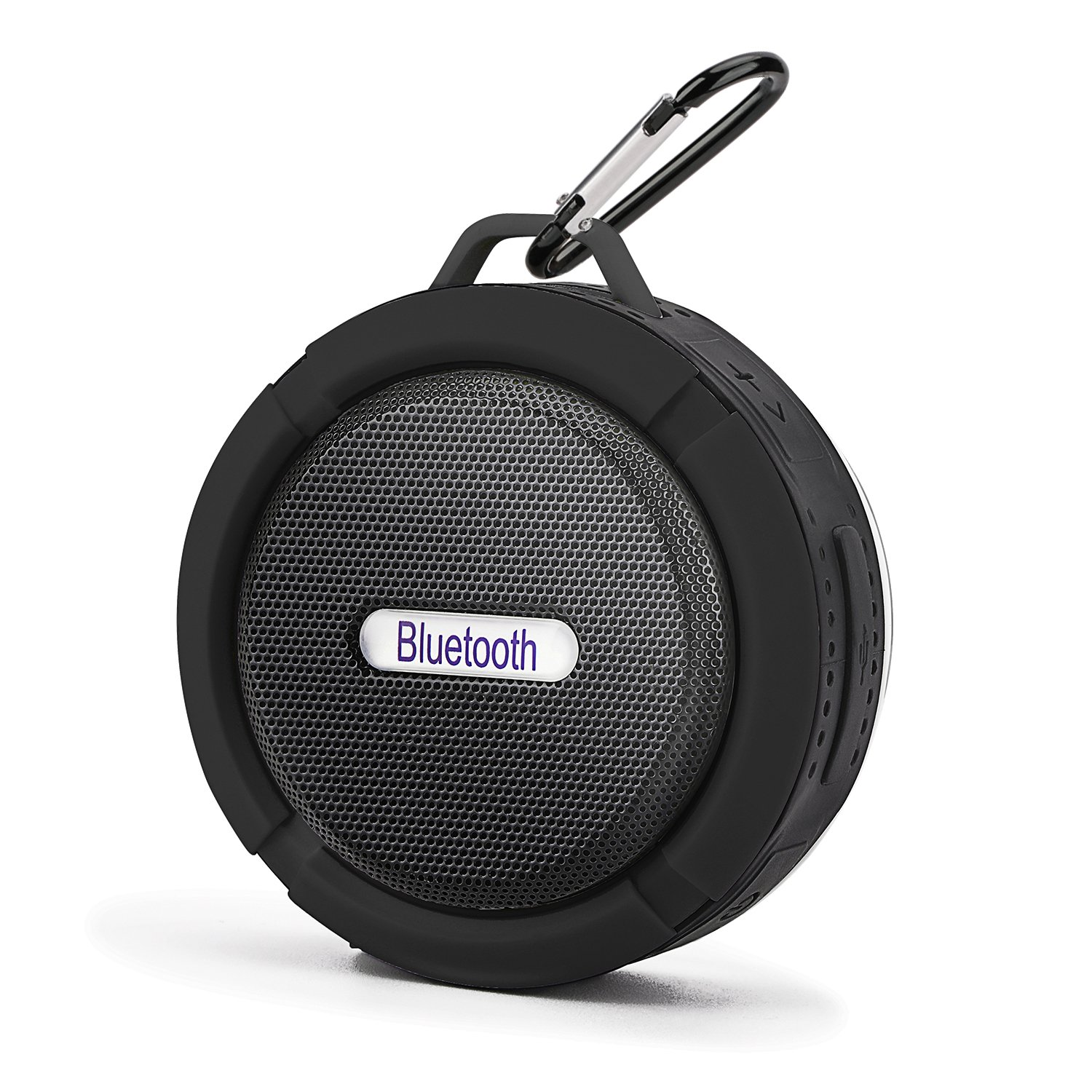 Mini Bluetooth Speaker,Retround Outdoor Speaker with Built-in Mic,High Sound Quality,Waterproof,6hrs of Playtime,Rechargeable,for Travel Black by Retround (Image #1)
