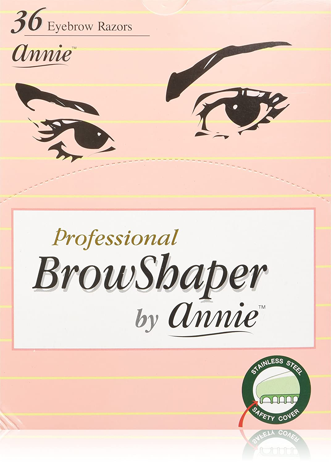 Amazon Annie Professional Browshaper 36 Razors Beauty