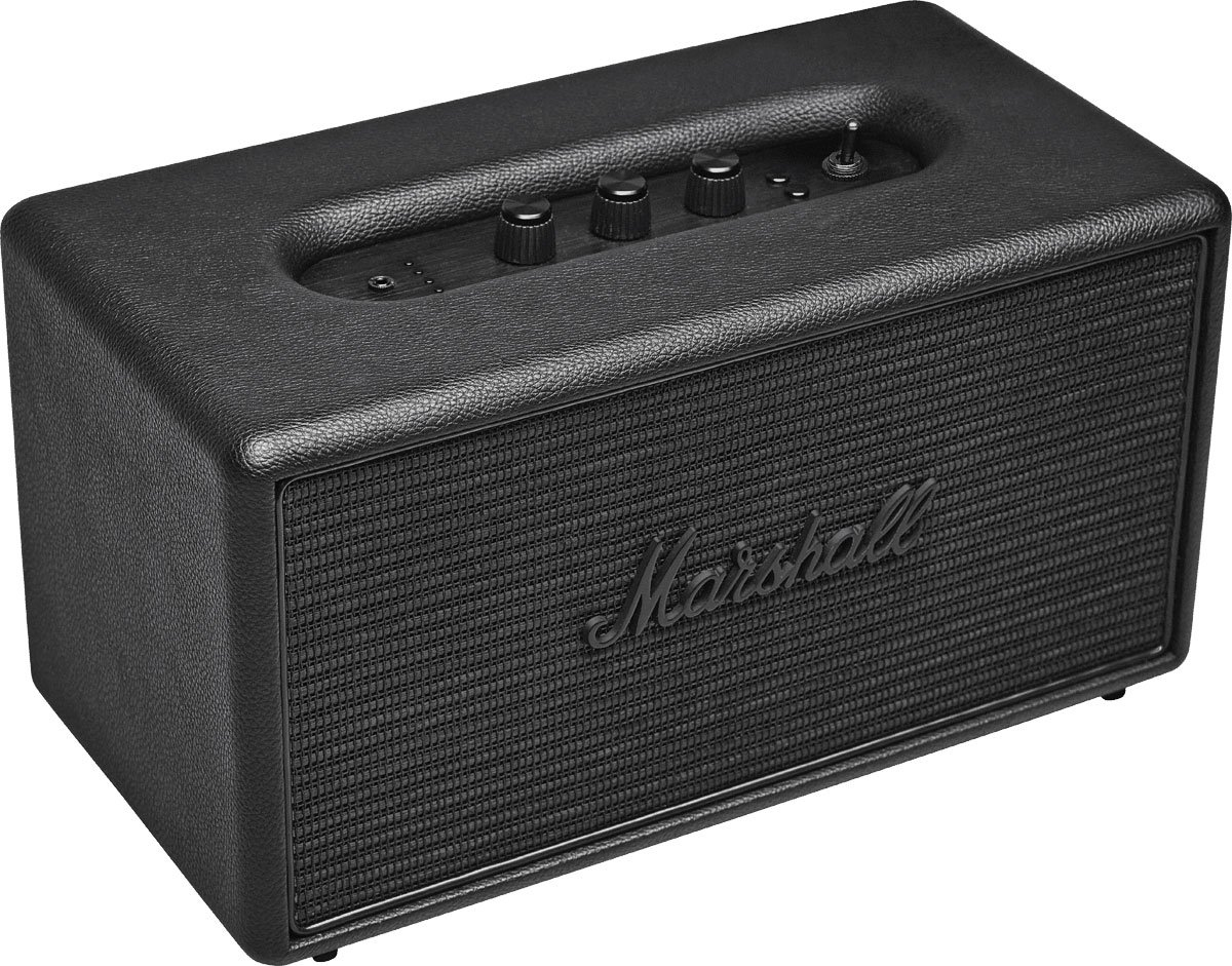 Marshall Stanmore Bluetooth Speaker Black Home Audio Wiring Outdoor Speakers With Volume Control Theater