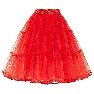 Belle Poque Femme Rockabilly Jupon sous Robe Crinoline Tutu Petticoat en Tulle