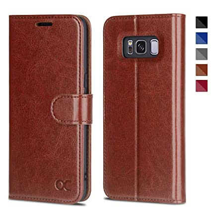 OCASE Samsung Galaxy S8 Case Leather Flip Wallet Case for Samsung Galaxy S8 Devices - Brown