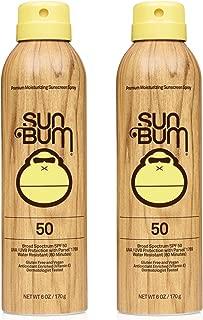 product image for Sun Bum Sun Bum Original Spf 50 Sunscreen Spray Vegan and Reef Friendly (octinoxate & Oxybenzone Free) Broad Spectrum Moisturizing Uva/uvb Sunscreen With Vitamin E 2 Pack