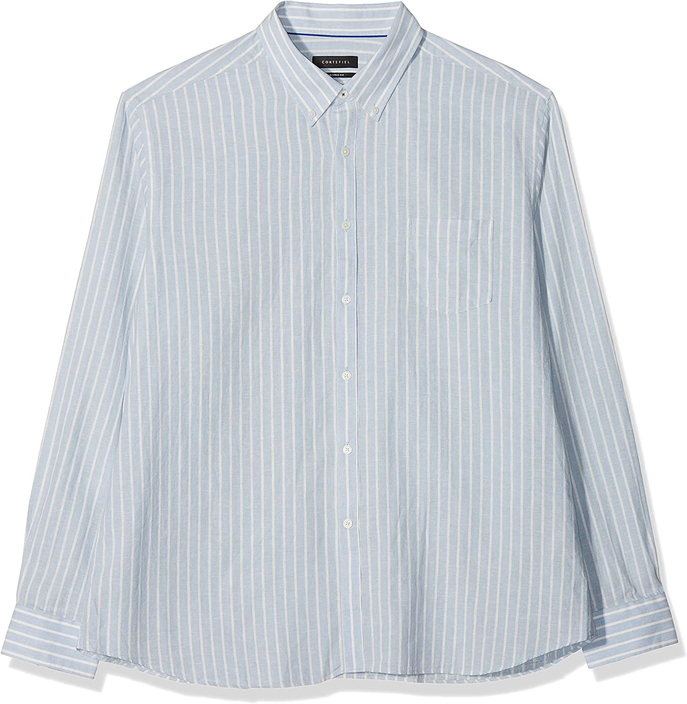 Cortefiel Camisa Rayas En Lino/Algodón Casual, Azul (Gama Azules 12), Medium (Tamaño del Fabricante:6) para Hombre: Amazon.es: Ropa y accesorios