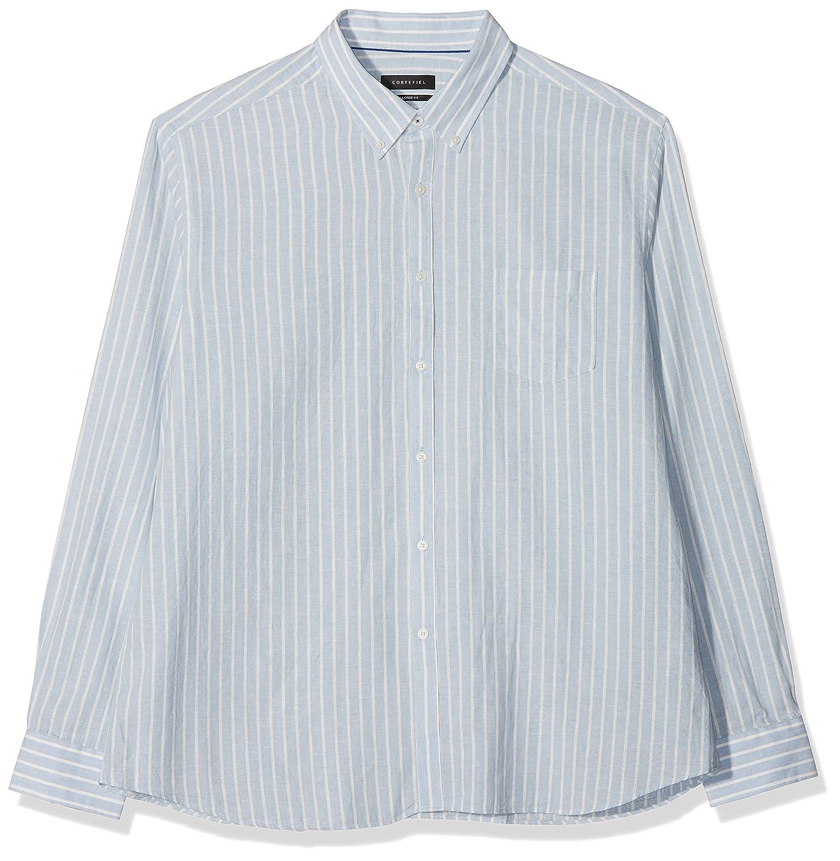 Cortefiel Camisa Rayas En Lino/Algodón Casual para Hombre