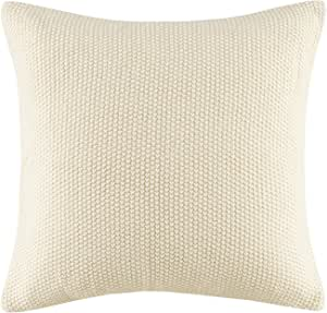 Ink Ivy Bree Cable Knit Euro Décor Throw Pillow Cover Casual Square Decorative Pillow Case For Sofa Bed Outdoor Chair 20x20 Ivory Home Kitchen Amazon Com