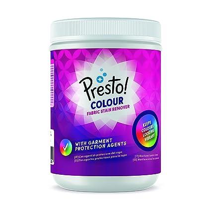 Marca Amazon - Presto! Quitamanchas en polvo para ropa de color 240 lavados (6 Packs de 40 lavados)