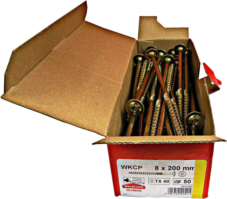 Tellerkopfschrauben Holzbauschrauben alle Gr/ö/ßen Tellerkopf Torx Schrauben 100St/ück 6x50mm TX30