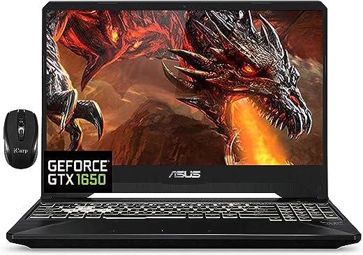 "2021 Flagship Asus TUF FX505GT 15 Gaming Laptop 15.6"" FHD IPS 144Hz Display Intel Hexa-Core i7-9750H 8GB DDR4 512GB SSD GTX 1650 4GB Webcam DTS RGB Backlit WiFi HDMI Win 10 + iCarp Wireless Mouse"