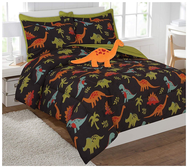 MK Home Mk Collection 3pc Twin Sheet Set Dinosaur Brown Orange Green Blue Red New